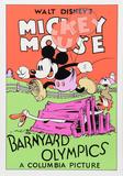Mickey Mouse: Barnyard Olympics Reproduction d'art