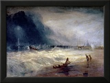 Lifeboat and Manby Apparatus Going off to a Stranded Vessel Making Signal of Distress  circa 1831