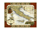 Wine Map of Italy on CGP Reproduction d'art