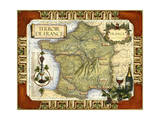 Wine Map of France on CGP Reproduction d'art