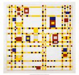 Broadway Boogie Woogie. 1942-43 Reproduction d'art par Piet Mondrian