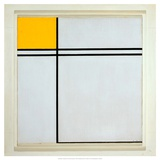 Composition with Yellow and Double Line  1932