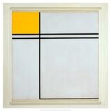 Composition with Yellow and Double Line, 1932 Reproduction d'art par Piet Mondrian