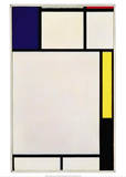 Composition in Blue, Red, Yellow and Black, 1922 Reproduction d'art par Piet Mondrian