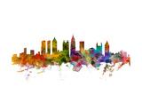 Atlanta Georgia Skyline Giclée premium par Michael Tompsett
