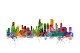 Chicago Illinois Skyline Giclée premium par Michael Tompsett