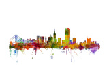 San Francisco City Skyline Giclée premium par Michael Tompsett