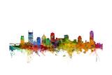 Nashville Tennessee Skyline Giclée premium par Michael Tompsett