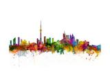 Toronto Canada Skyline Giclée premium par Michael Tompsett