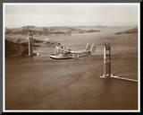 Sikorsky S-42 through the Golden Gate under Construction  San Francisco  1935