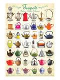 Teapots Collage Reproduction d'art