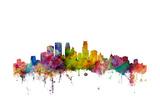 Minneapolis Minnesota Skyline Giclée premium par Michael Tompsett