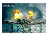 USS Iowa Guns firing
