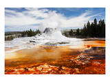 Castle Geyser Yellowstone Park