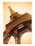 Eiffel Tower Sepia Paris France