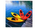 Yellow & Red Kayak On The Lake