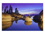 Lake Tahoe Sunset and Boulders