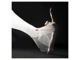 Ballet Dancer Jump White Veil