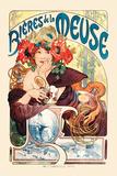 Bières de La Meuse Poster par Alphonse Mucha