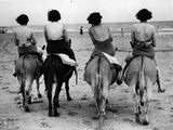 Donkey Back Rides Papier Photo par Hulton Archive