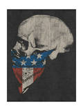 Skull and American Flag Bandana