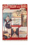 Touristic Advertising Poster: Chemins De Fer De L'Etat  Saint-Trojan-Les-Bains  Île D'Oleron