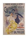 Theatre National de l'Opera  Carnaval 1892  Samedi 30 Janvier  1er Bal Masque