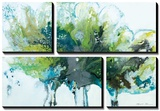 Imperial Frost Tableau multi toiles par Natasha Barnes