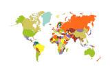 Carte du monde Tableau sur toile par Tony4urban