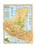 1989 Land of the Maya Map