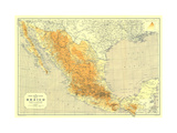 1914 Mexico Map