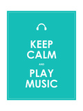 Keep Calm and Play Music Vector Background Eps10