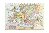 Map of Europe at the Time of the Third Crusade  1190  from 'Historical Atla