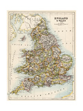 Map of England and Wales  1870s
