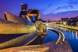 Guggenheim Museum by Night  Bilbao  Basque Country  Spain