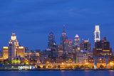 USA  Pennsylvania  Philadelphia  City Skyline from Camden New Jersey  Dawn