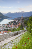 Elevated View over Kotor's Stari Grad (Old Town) and the Bay of Kotor  Kotor  Montenegro