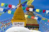 Boudhanath Stupa, Kathmandu, Nepal Papier Photo par Stefano Politi Markovina