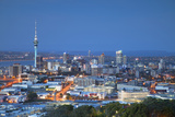 View of Auckland from Mount Eden at Dusk  Auckland  North Island  New Zealand