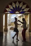 Cuba  Trinidad  Casa De Culture  Couple Salsa Dancing