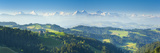 Emmental Valley and Swiss Alps in the Background  Berner Oberland  Switzerland