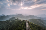 Hebei  China the Great Wall of China  Jinshanling Section  at Sunrise  Long Exposure