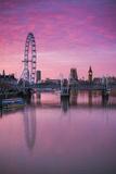 England  London  Southbank  the London Eye  Sunrise