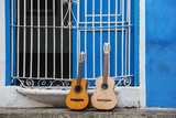 Santiago De Cuba Province  Historical Center  Calle Heredia  Guitars by Balcony