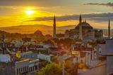 Turkey  Istanbul  Sultanahmet  Sunrise over Hagia Sophia (Or Ayasofya)