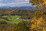 USA  North Carolina  Blowing Rock  Autumn Landscape Off of the Blue Ridge Parkway
