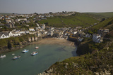 A View of the Harbor at Low Tide  at Port Isaac  Near Padstow  on the Atlantic Coast of Cornwall