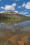Beartooth Butte Reflects in Beartooth Lake in the Absaroka Range