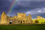A Rainbow over Hore Abbey and the Rock of Cashel in County Tipperary
