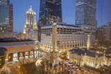 The Historic Chicago Water Tower and Hancock Tower with Water Tower Place  2013